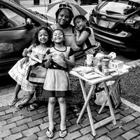 Street Hawker and her Children